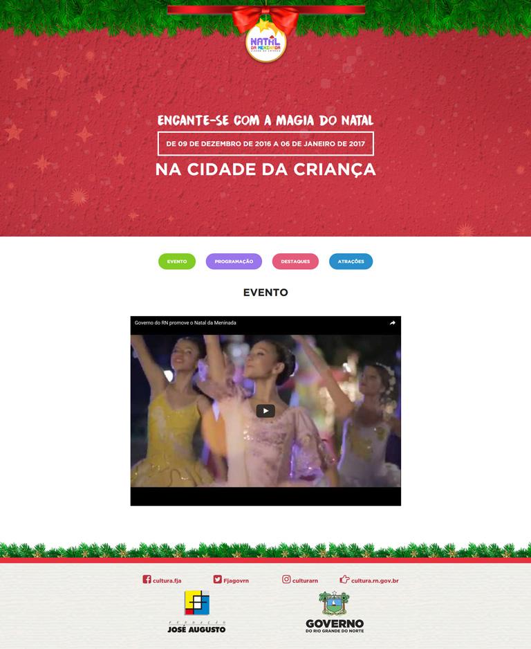 Site do evento Natal da Meninada da Cidade da Criança